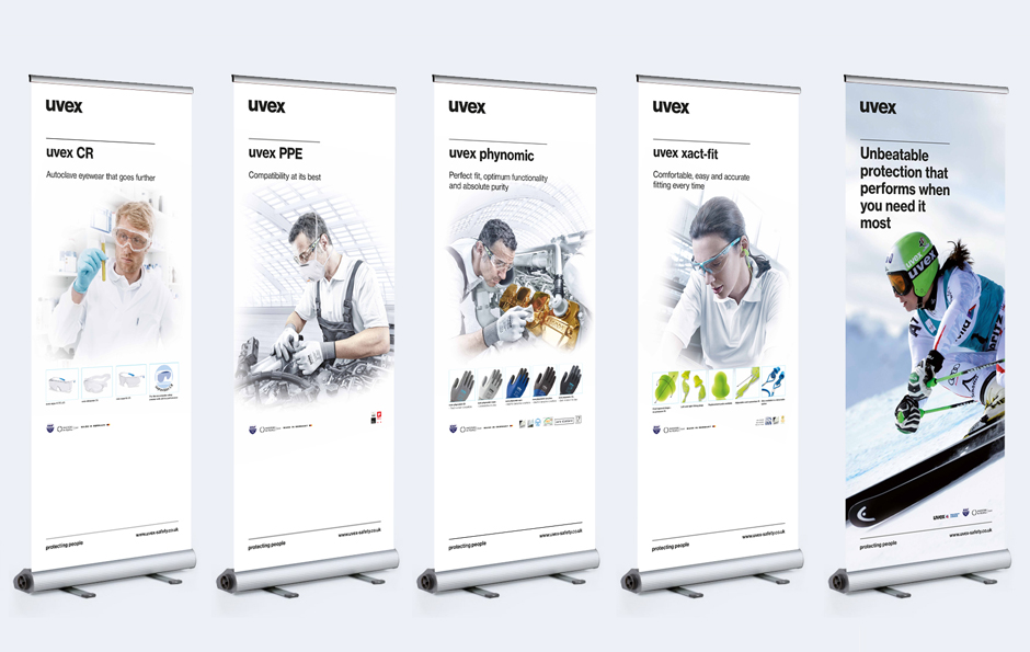 uvex pop up banners